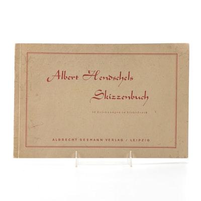 """Albert Hendschels Skizzenbuch"" by Albert Hendschel, 1940"