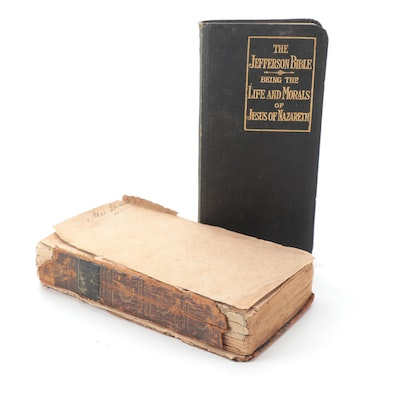 """""""Paradise Lost"""" by John Milton with the Thomas Jefferson Bible"""