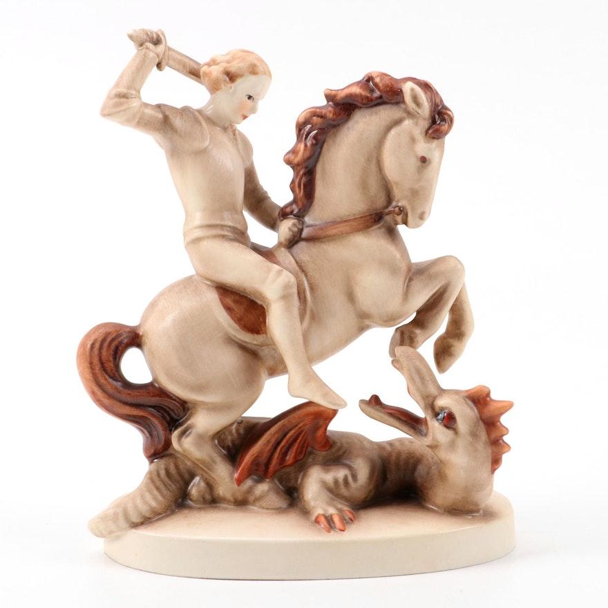 """Goebel Hummel """"Saint George"""" Porcelain Figurine, Late 20th Century"""