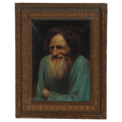 Oil Painting Portrait of a Man, Late 19th to Early 20th Century