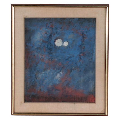 Frances Field Abstract Pastel Drawing, 1964
