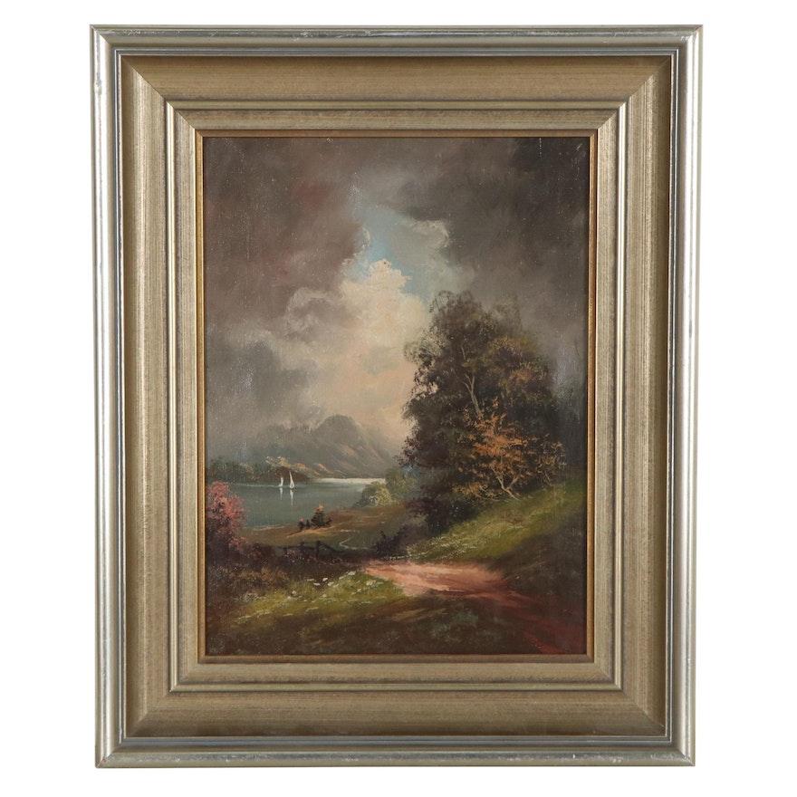 Romanticism Style Landscape Oil Painting, 21st Century
