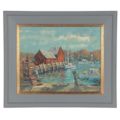 "Robert Waltsak Oil Painting ""Rockport, NH"""