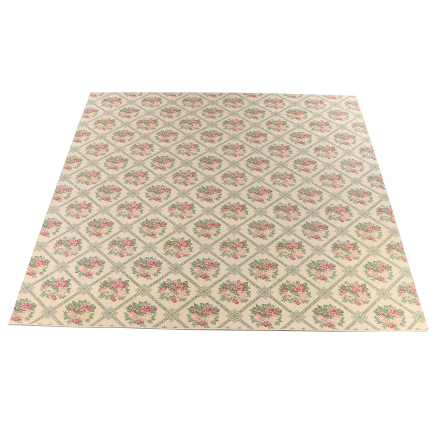 11'1 x 11'10 Machine Made Floral Room Sized Rug