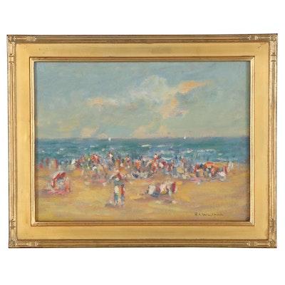 """Robert Waltsak Oil Painting """"Jersey Shore,"""" 2019"""