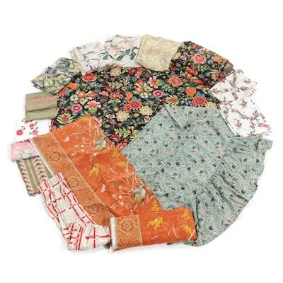 Greef, Warner & Sons Fabric with Tablecloths, Drapery Panels and Remnants