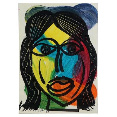 Peter Robert Keil Abstract Acrylic Portrait