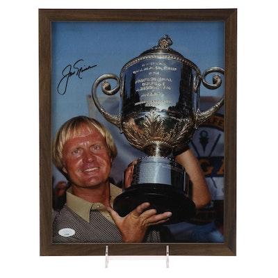 "Jack Nicklaus Signed ""PGA Championship Trophy"" Photo Print with JSA COA"