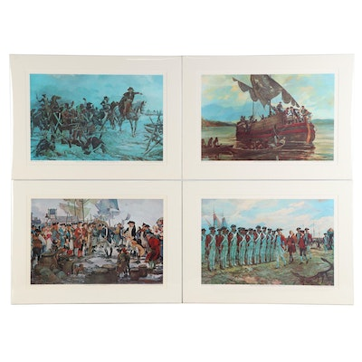 Offset Lithographs after Major Charles Waterhouse