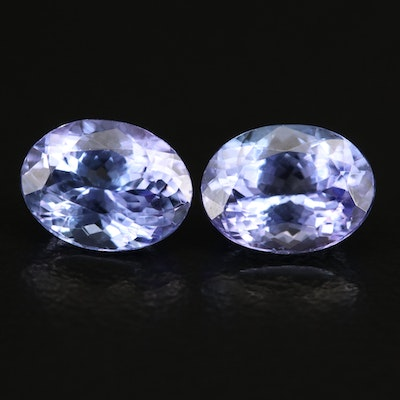 Loose 2.96 CTW Oval Faceted Tanzanites