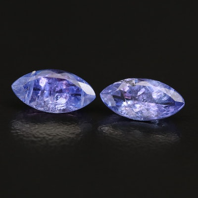 Loose 2.90 CTW Marquise Faceted Tanzanites