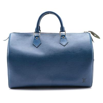 Louis Vuitton Speedy 35 in Toledo Blue Epi Leather