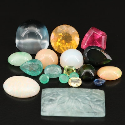 Loose Topaz, Opal, Beryl, Emerald, Tourmaline and Cubic Zirconia