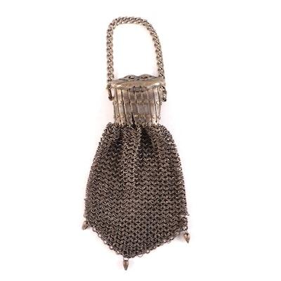 Gate Top Chainmail Metal Mesh Bag