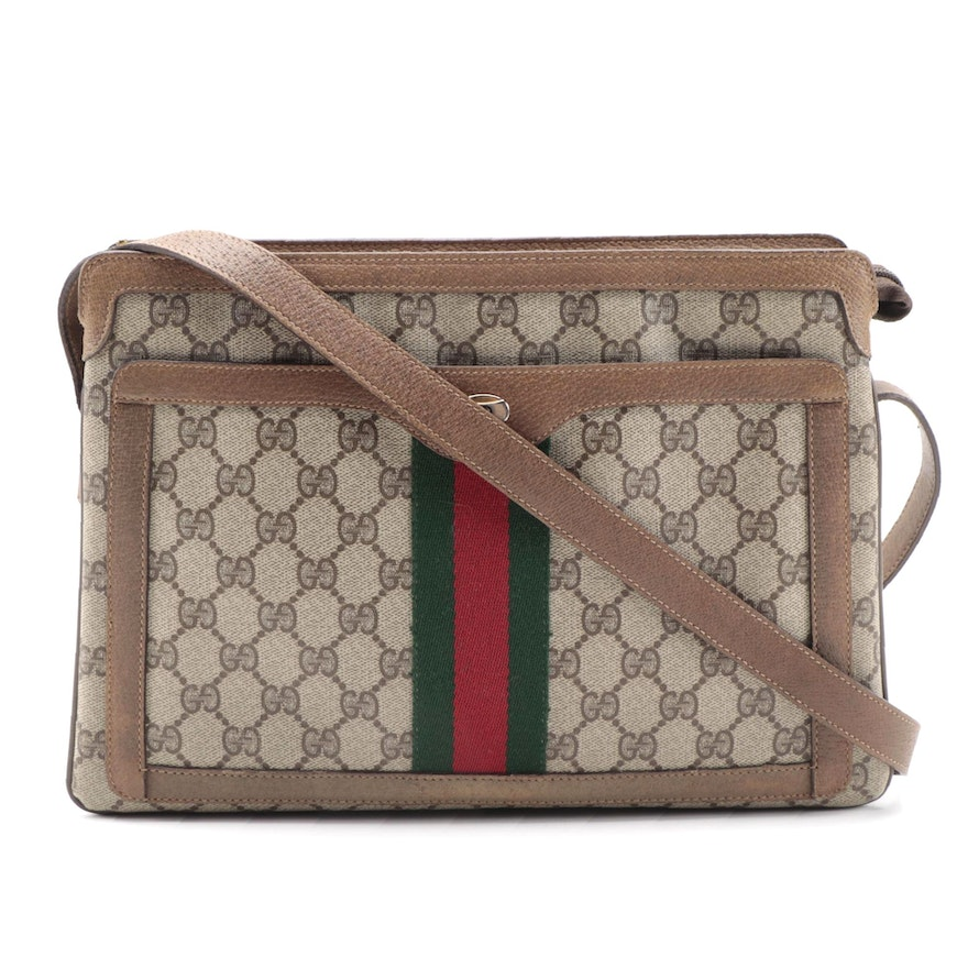 Gucci Accessory Collection Accordion Bag in GG Monogram and Sherry Line