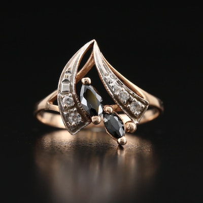 Russian 14K Cubic Zirconia Ring