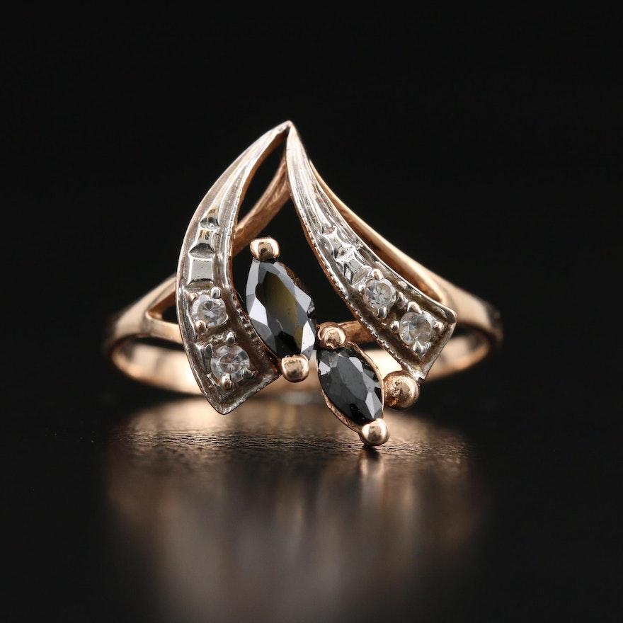 Russian 14K Cubic Zirconia Ring