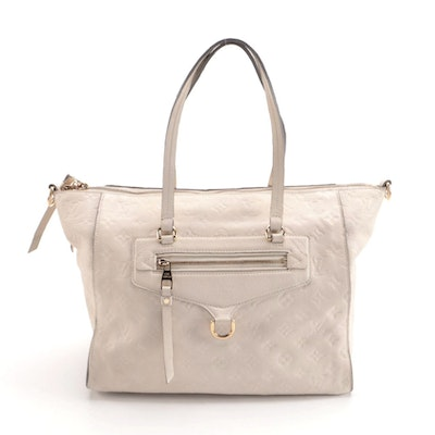 Louis Vuitton Lumineuse PM Tote in Niege Monogram Empreinte Leather