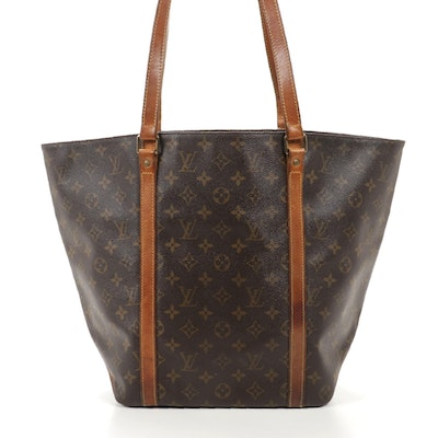 Louis Vuitton Sac Shopping Shoulder Tote in Monogram Canvas