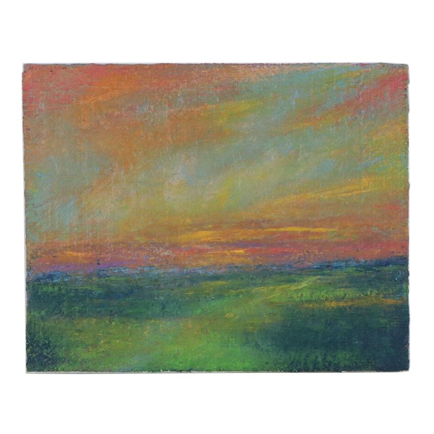 """Rebecca Manns Oil Painting """"Prairie Vista,"""" 2021"""