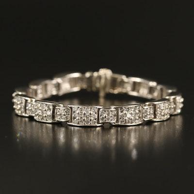 14K 6.68 CTW Pavé Diamond Bracelet