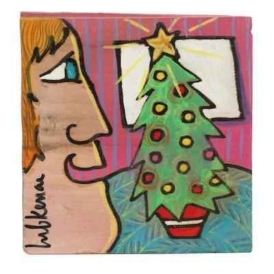 "Eric Lubkeman Acrylic Painting ""Christmas Shine"""