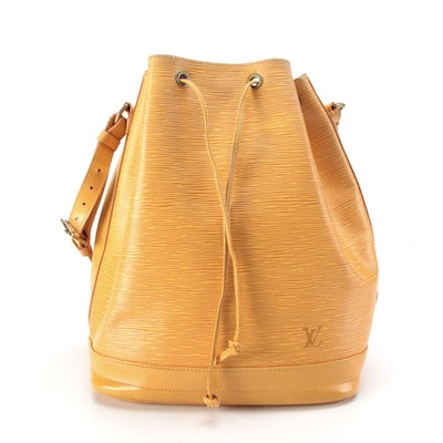 Louis Vuitton Noé Bucket Bag in Tassil Yellow Epi Leather and Smooth Leather