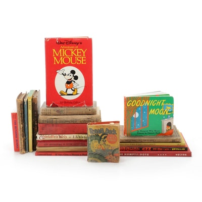 "Children's Books Featuring ""Mickey Mouse"", ""Peter Cottontail"", and Others"