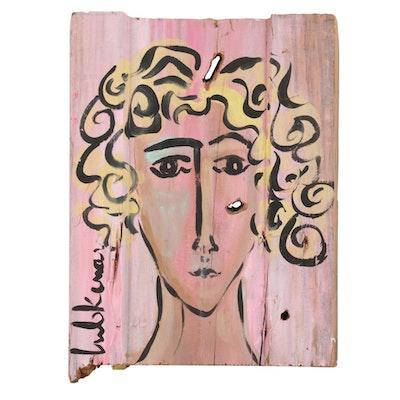 "Eric Lubkeman Acrylic Painting ""Serene,"" 1997"