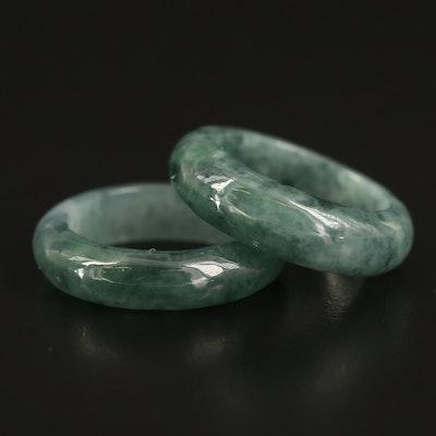 Jadeite Hololith Rings