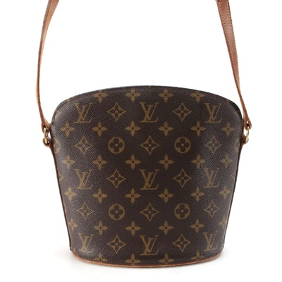Louis Vuitton Drouot Crossbody Bucket Bag in Monogram Canvas