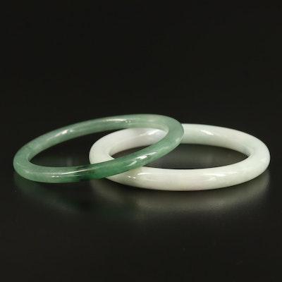 Jadeite Hololith Bangles