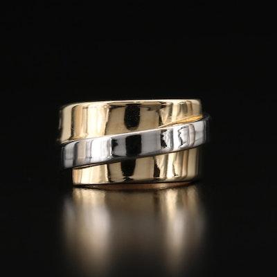 Italian 14K Two-Tone Wrap Ring