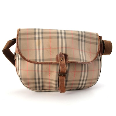 "Burberry ""Haymarket Check"" Messenger Bag"
