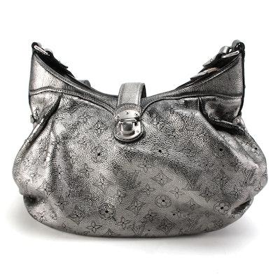 Louis Vuitton Argent Hobo Bag in Metallic Monogram Mahina Leather