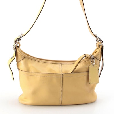 Coach Hobo Bag in Smooth Yellow Leather