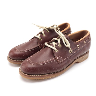 Children's Ruggie-ettes by Foot Traits Leather Boat Shoes with Box