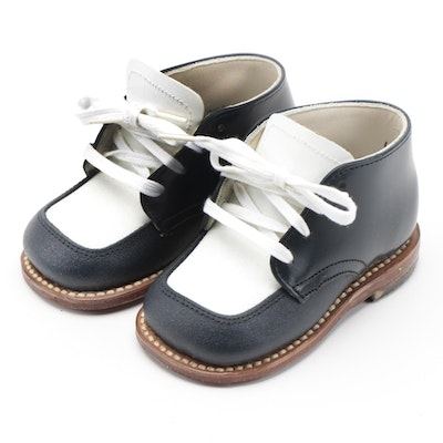 Children's Foot Traits Leather Baby Shoes with Box