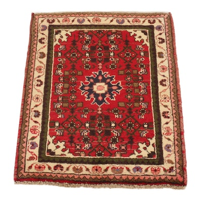 2'4 x 2'10 Hand-Knotted Northwest Persian Rug, 1980s