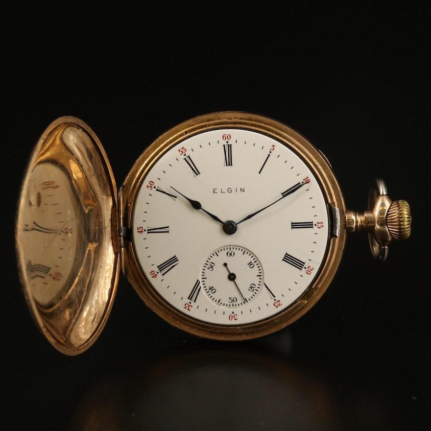 1905 Elgin 14K Gold Filled Hunting Case Pocket Watch