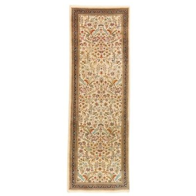 3'3 x 9'11 Hand-Knotted Persian Tabriz Tabatabai Style Long Rug, 1970s