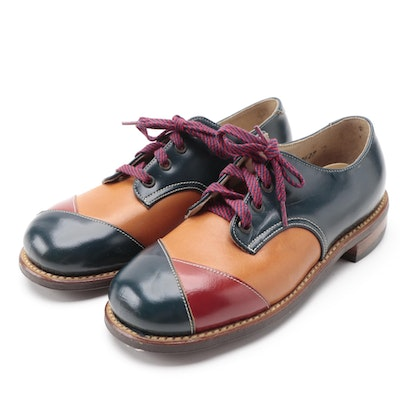 Children's Julius Altschul Tricolor Leather Saddle Shoes with Box