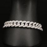 14K 7.43 CTW Pavé Diamond Curb Link Bracelet