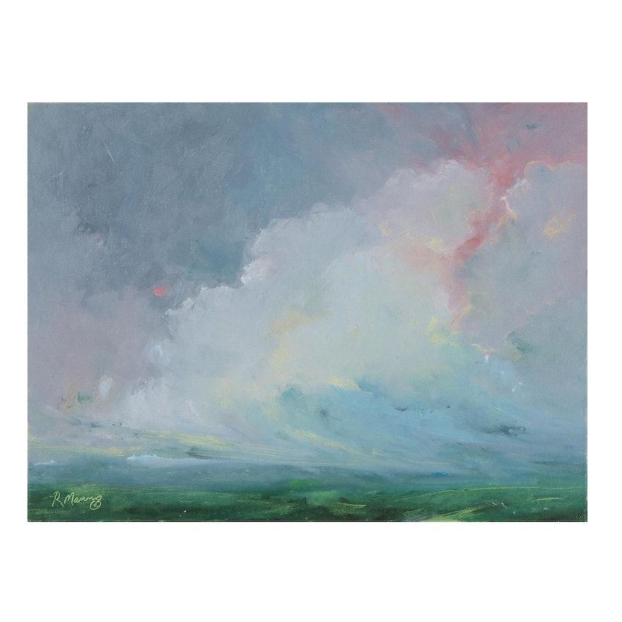 "Rebecca Manns Oil Painting ""Sailing Through,"" 2021"