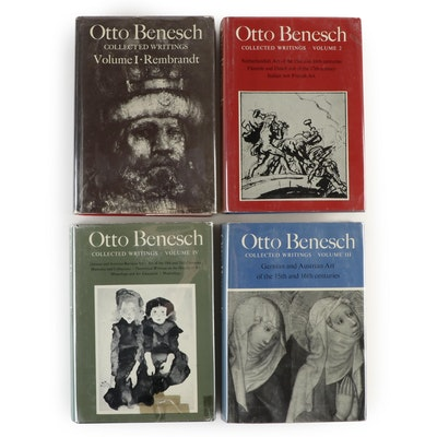 "Eva Benesch Signed ""Otto Benesch Collected Writings"" Four-Volume Set"