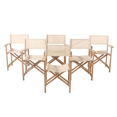 "Kingsley-Bate ""Capri"" Teak Patio Director's Chairs"