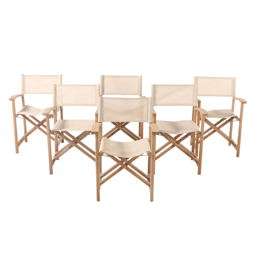 "Kingsley-Bate ""Capri"" Teak Patio Director's Chairs"