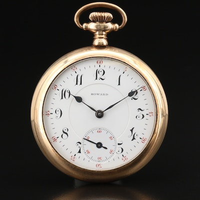 1913 Howard Gold Filled Pocket Watch