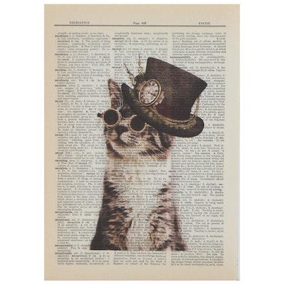 Contemporary Giclée of Steampunk Kitten, 21st Century