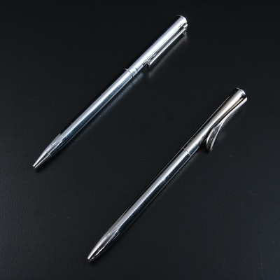 "Tiffany & Co. Sterling Silver Elsa Peretti and ""T-Clip"" Pens"